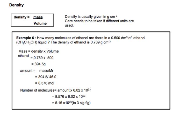 1 The mole and Avogadro's constant