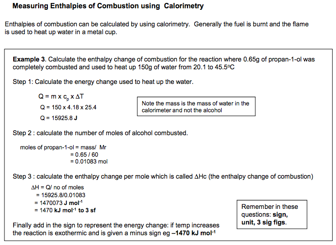 Enthalpy changes |