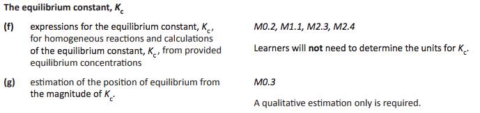 3 Equilibrium constant Kc |