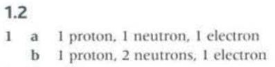 1.Z<br /> a<br /> b<br /> I proton, I neutron, I electron<br /> I proton. 2 neutrons. I electron