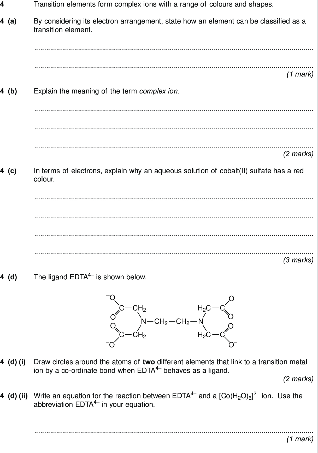 2 Ligands And Complex Formation